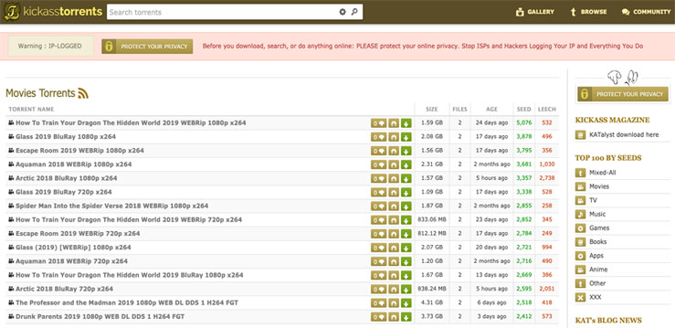Kickass Torrents alternetive for RARBG