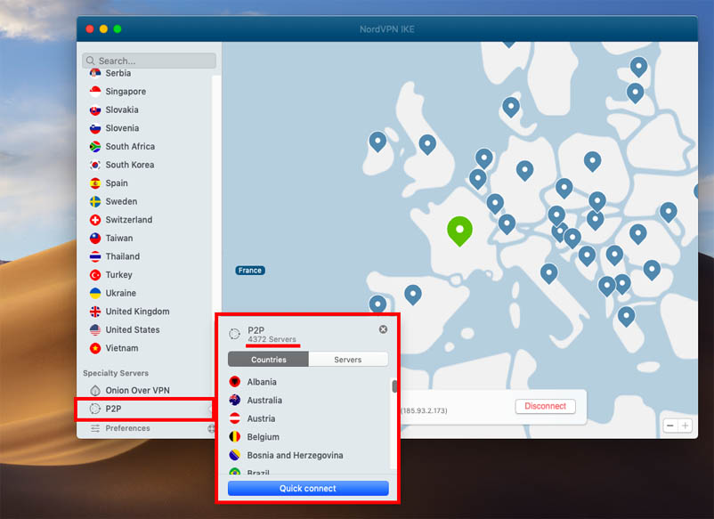NordVPN p2p servers for torrenting