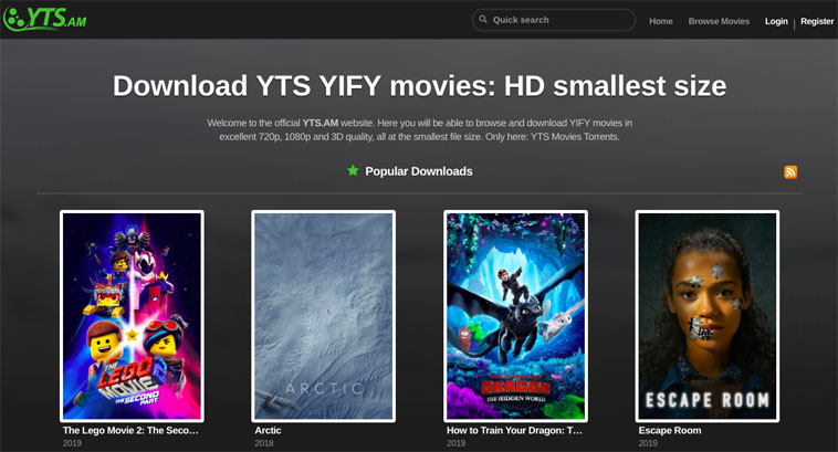 YTS/YIFY alternetive for RARBG