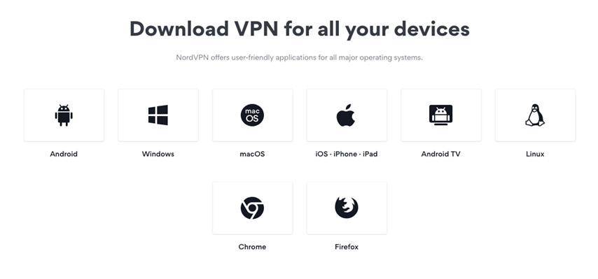 What platforms support the NordVPN