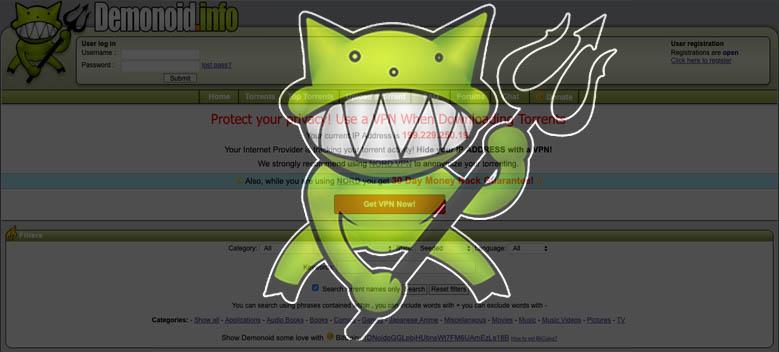 Demonoid Torrent Site